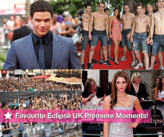 Pictures of Favourite Moments From The Twilight Saga: Eclipse UK Premiere Ashley Greene, Kellan Lutz, Nikki Reed, Xavier Samuel