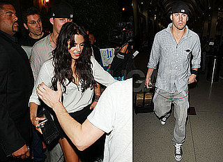 Pictures of Channing Tatum at LAX and Jenna Dewan