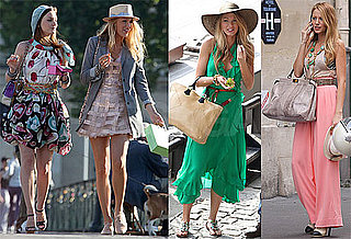 Pictures of Blake Lively, Leighton Meester, Ed Westwick, and Clemence Poesy Shooting Gossip Girl in Paris 2010-07-06 07:00:00