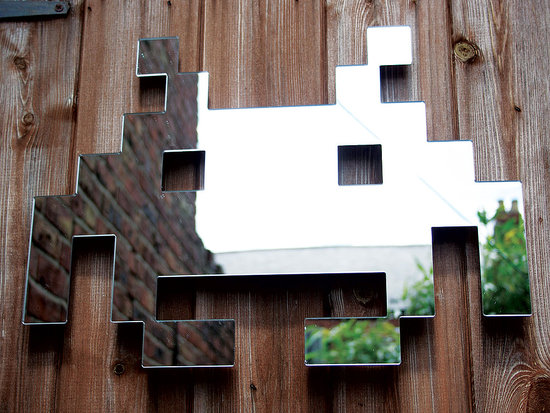 Photos of the Space Invader Mirrors