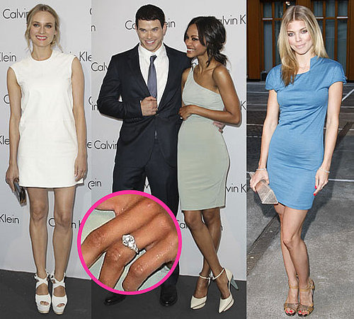Zoe Saldana's Engagement Ring With Kellan Lutz, AnnaLynne McCord, Diane Kruger at Calvin Klein event 2010-07-08 18:00:34