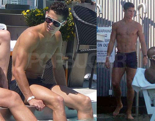 Pictures of Cristiano Ronaldo Shirtless in NYC