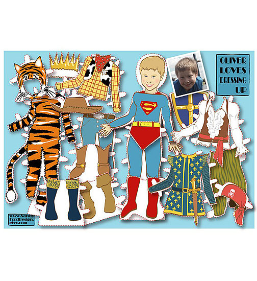 Personalized Boy&#039;s Paper Doll Kit