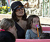 Slide Picture of Salma Hayek and Valentina at Disneyland