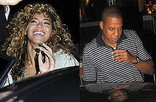 Pictures of Beyonce Knowles and Jay-Z Leaving Scott's in London