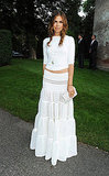 Dasha Zhukova looked boho fresh at the Valentino Garavani Archives dinner party.