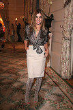 Carine Roitfeld in lace-up boots at the Giuseppe Zanotti party in Paris.