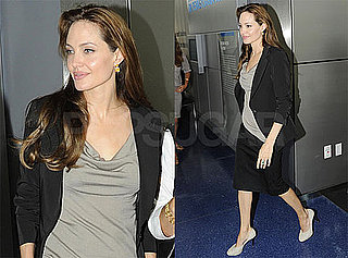 Pictures of Angelina Jolie Attending a Press Junket For Salt in Washington DC