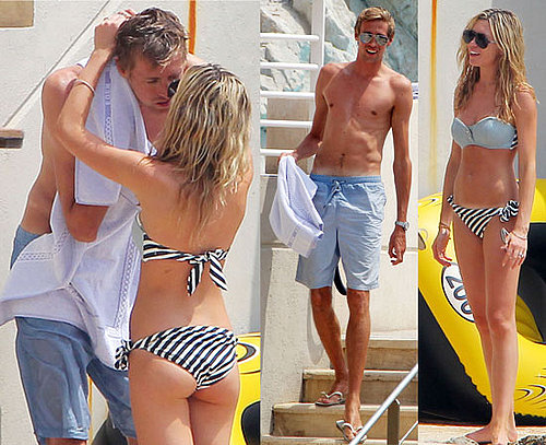 Pictures of Abigail Clancy in a Bikini Kissing Shirtless Footballer Peter Crouch in French Riviera