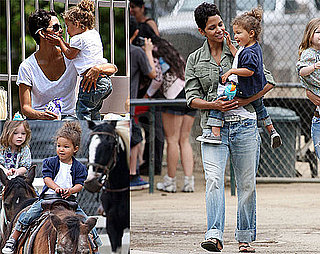 Pictures of Halle Berry and Nahla Aubry Playing at the Park in LA