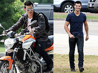 Pictures of Taylor Lautner on the Set of Abduction in Pittsburgh