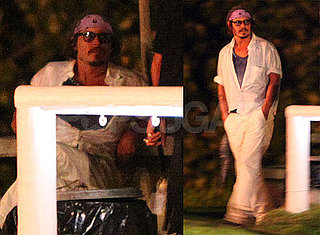 Pictures of Johnny Depp Relaxing in Hawaii Off Set on a Break From Pirates of the Caribbean