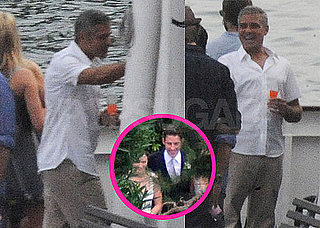 Pictures of George Clooney on Lake Como After Hosting John Krasinski and Emily Blunt's Wedding