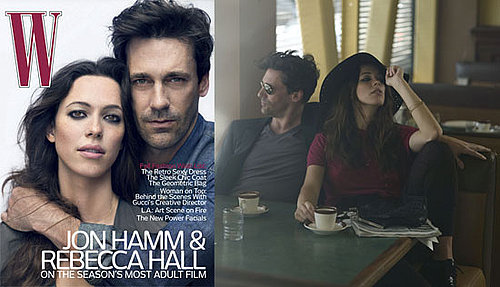 Pictures and Quotes From The Town's Jon Hamm and Rebecca Hall in W