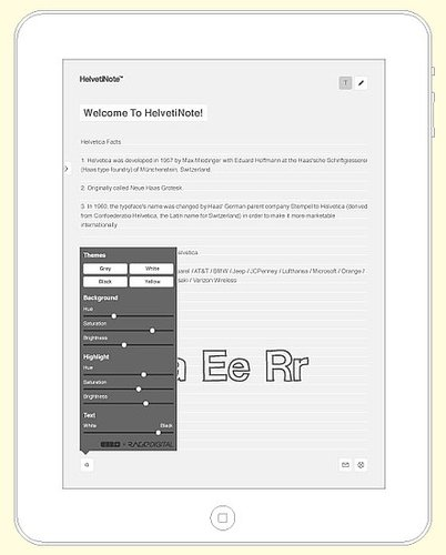 HelvetiNote Notepad App For iPad