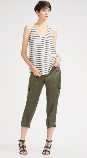 Joie Silk Satin Cargo Pants ($83, originally $208)