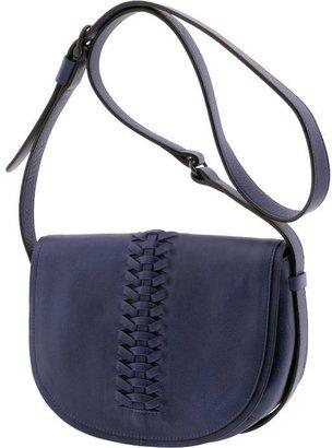 Banana Republic Blue Leather Saddle Bag