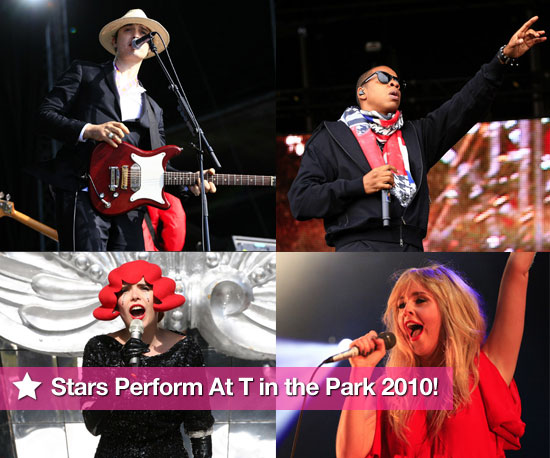 Pictures of stars performing at T in the Park 2010