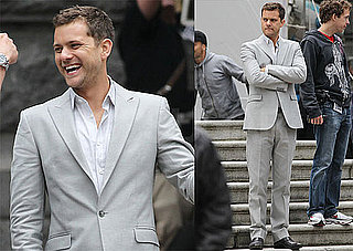Pictures of Joshua Jackson on the Set of Fringe in a Suit