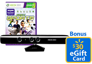 Walmart Kinect Gaming Bundle Details