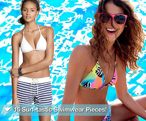 Surf-Inspired Swimsuits, Bikinis, and Shorts