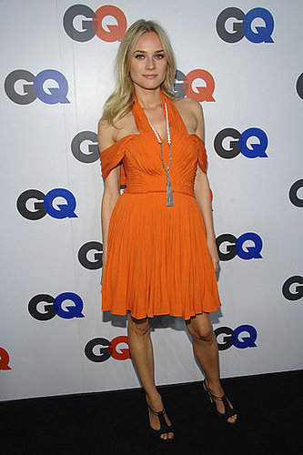 How cool did Diane look in bold orange Phillip Lim in 2008?