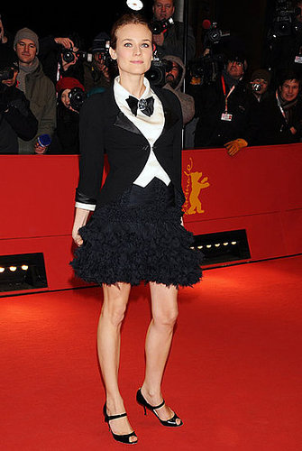 Showing off her love of menswear in 2008, Diane perfected the borrowed-from-the-boys vibe at the Berlin Film Festival.