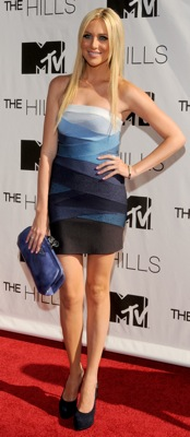 Stephanie Pratt Wears Herve Leger at The Hills Finale Party