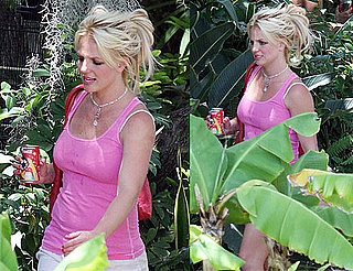 Pictures of Britney Spears in Pink at Music Studio