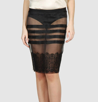 Sheer can be sexy, but this Red Valentino Knee-Length Sheer Skirt ($75, originally $145) reminds me of French windows.