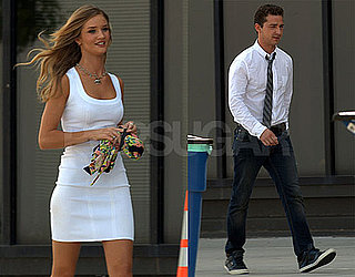 Pictures of Shia LaBeouf And Rosie Huntington-Whiteley Shooting Transformers 3 in LA