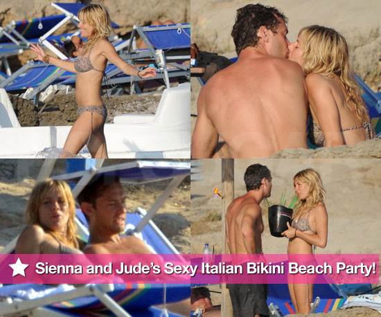 Sienna Miller and Jude Law's Italian Beach Bikini Party!