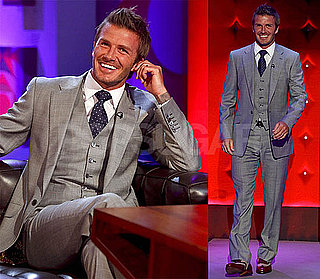 Pictures and Video of David Beckham on Jonathan Ross