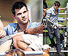 Pictures of Taylor Lautner On Set Of Abduction In Denim Shirt