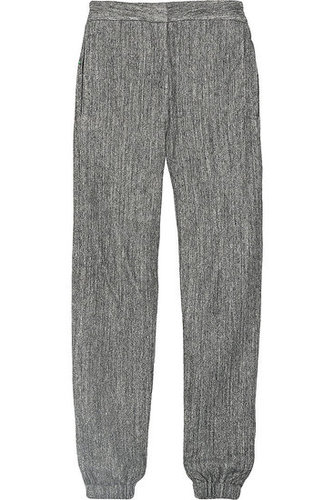 L'Agence | Japanese herringbone fleece pants | NET 255