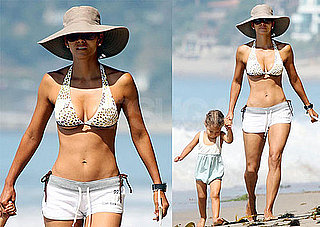 Halle Berry Bikini Pictures on the Beach in LA With Nahla