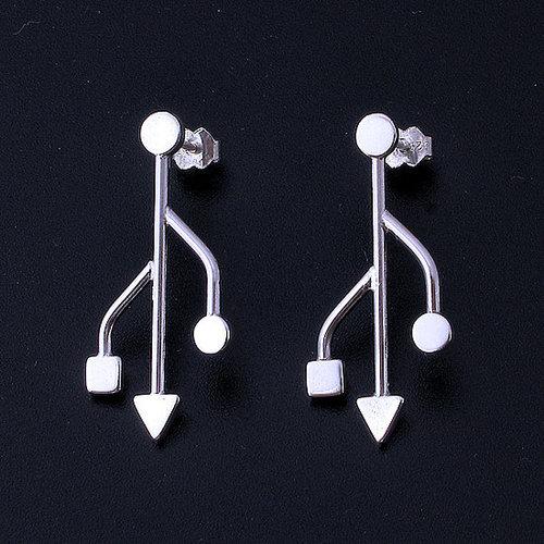 USB earrings
