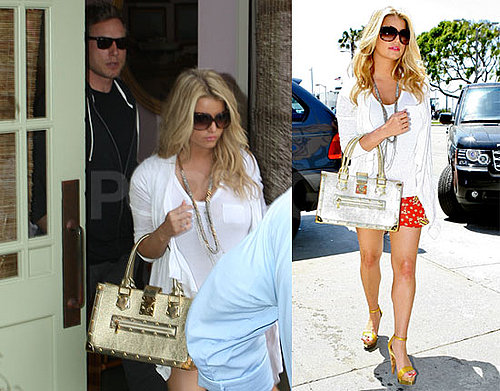Pictures of Jessica Simpson on a Lunch Date With Eric Johnson