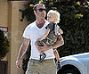 Slide Picture of Liev Schreiber Holding Sasha While Running Errands in LA