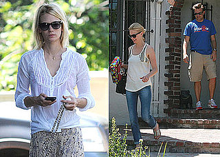 Pictures of January Jones With Jason Sudeikis in LA