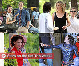 Pictures of Katie Holmes, Russell Brand, Kate Winslet on Set