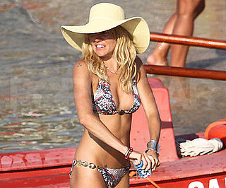 Slide Picture of Sienna Miller in Bikini in Italy