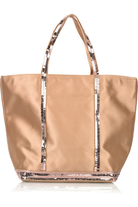 Vanessa Bruno Small Sequined Satin Basket Bag ($77, originally $140)