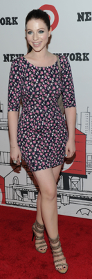 Michelle Trachtenberg in Bop Basics Floral Dress in NYC