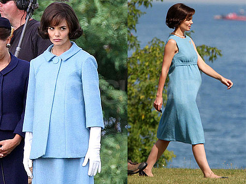Pictures of Katie Holmes Filming The Kennedys in Canada