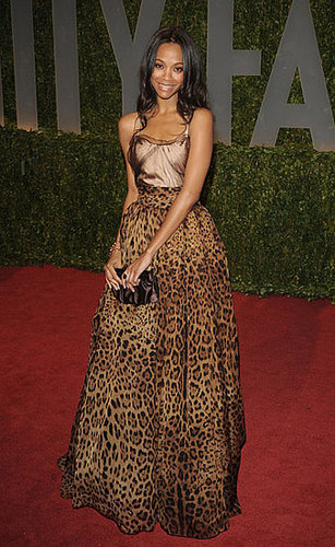 Zoe wore a sexy animal-print gown by Dolce & Gabbana to the Oscars afterparty in '09.