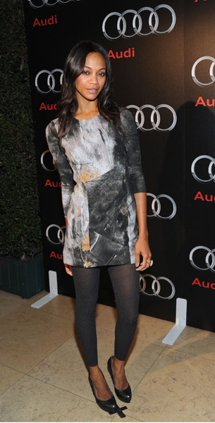 Zoe in Helmut Lang at the Audi Diesel dinner in '09.