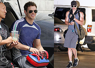 Pictures of Kellan Lutz Outside of Gym in LA