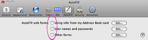 Safari Autofill Security Flaw