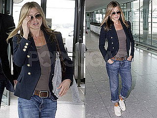 Pictures of Jennifer Aniston Leaving Heathrow